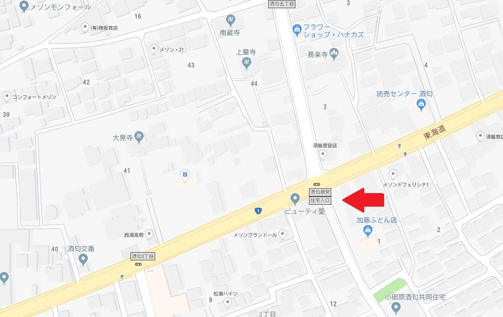 カワセ駐車場地図